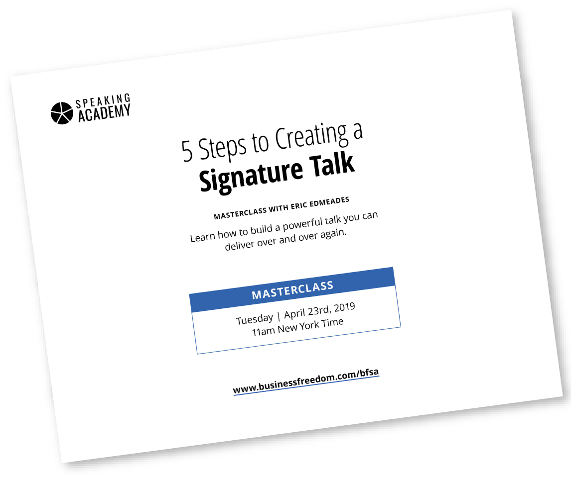 24-13.270-BF-Creating a Signature Talk worksheet